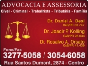 DANIEL A BEAL Dr. - Advocacia<br>JOACIR P KOLLING Dr. - Advocacia<br>ROSALVO A. ORSATO Dr. - Advocacia