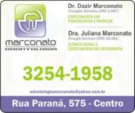 MARCONATO ODONTOLOGIA Clínica Odontológica / Cirurgião Dentista