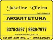 Cartão: JAKELINE VIEIRA ARQUITETURA