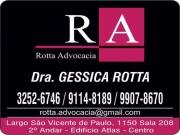 Cartão: GESSICA ROTTA Dra. Advocacia ROTTA ADVOCACIA