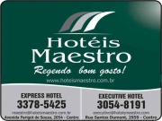 Cartão: MAESTRO EXPRESS HOTEL<br>MAESTRO EXECUTIVE HOTEL