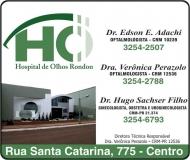 RONDON HOSPITAL DE OLHOS CLÍNICA DE OFTALMOLOGIA