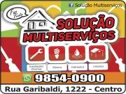 Cartão: SOLUÇÃO MULTI SERVIÇOS ELETRICISTA/ENCANADOR