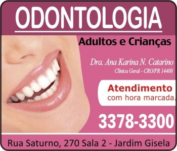 ANA KARINA NOVAIS CATARINO Dra. Cirurgiã Dentista/Odontologia