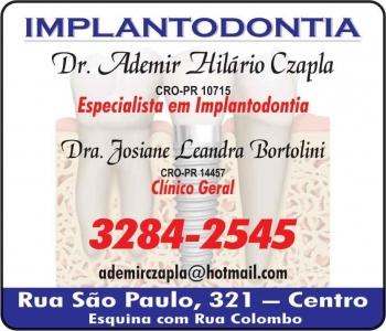 ADEMIR HILÁRIO CZAPLA Dr. CIRURGIÃO DENTISTA CLÍNICA ODONTOLÓGICA