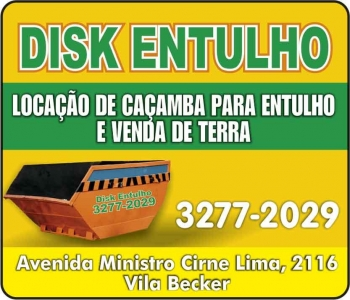 DISK ENTULHO CAÇAMBAS