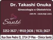 Cartão: CLÍNICA DE GINECOLOGIA E OBSTETRICIA DR. TAKASHI ONUKA