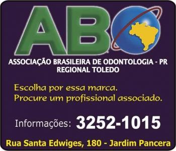 ASSOCIAÇÃO BRASILEIRA DE ODONTOLOGIA ABO TOLEDO Presidente Dra. Denise de Carli