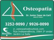Cartão: OSTEOPATIA DR. JUNIOR CESAR DE CARLI