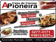 Cartão: A PIONEIRA CASA DE CARNES AÇOUGUE