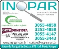 INOPAR INSTITUTO DE ODONTOLOGIA E PESQUISA DO PARANA Centro de Educação Profissional / Cursos / Cirurgião Dentista