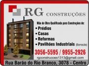 Cartão: RG CONSTRUÇÕES CONSTRUTORA