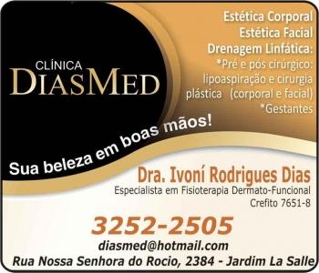 CLÍNICA DE FISIOTERAPIA IVONÍ RODRIGUES DIAS / DERMATO-FUNCIONAL / DIASMED