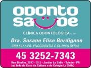 Cartão: SUSANE ELISE BORDIGNON Dra. Cirurgiã Dentista / Endodontia ODONTO SAÚDE CLÍNICA ODONTOLÓGICA - ODONTOLOGIA