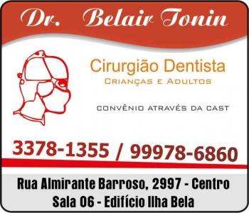 CIRURGIÃO DENTISTA BELAIR TONIN / PRÓTESE DENTÁRIA