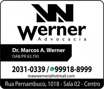 ADVOCACIA MARCOS ANDRE WERNER WERNER ADVOCACIA