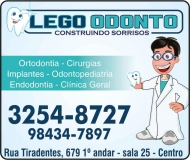LEGO ODONTO ODONTOLOGIA Clínica Odontológica / Cirurgião Dentista