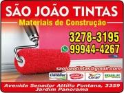 Cartão: SÃO JOÃO TINTAS MATERIAIS DE CONSTRUÇÃO