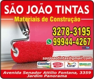 SÃO JOÃO TINTAS MATERIAIS DE CONSTRUÇÃO