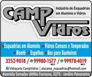 CAMP VIDROS VIDRAÇARIA