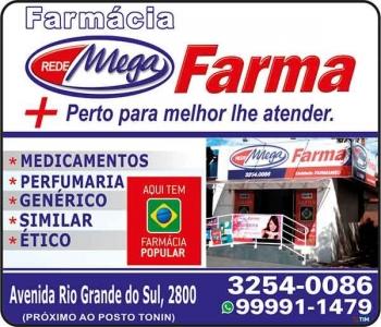 MEGA FARMA FARMÁCIA FARMAMED MEDICAMENTOS E PERFUMARIAS / DISK REMÉDIOS