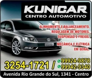 KUNICAR AUTOMECÂNICA CENTRO AUTOMOTIVO MULTIMARCAS