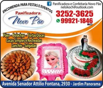 NOVO PÃO PANIFICADORA / CONFEITARIA