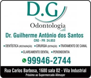 CIRURGIÃO DENTISTA GUILHERME ANTÔNIO DOS SANTOS / DENTÍSTICA RESTAURADORA / DG