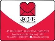 Cartão: RECORTE CONVITES PERSONALIZADOS CORTE A LASER
