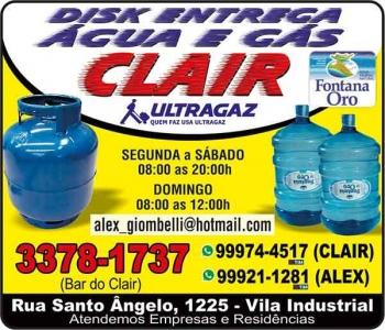 CLAIR GÁS / DISK GÁS E ÁGUA MINERAL / ULTRAGAZ