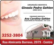 GINÉSIO PEDRO GEHLEN Dr. Cirurgião Dentista/Endodontia<br>ANA CAROLINA GEHLEN Dra. Cirurgiã Dentista/Periodontia ODONTOLOGIA