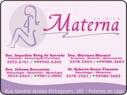 Cartão: CLÍNICA DE GINECOLOGIA MATERNA ROBERTO BRAVO PIMENTA Dr. Ginecologia/Obstetrícia