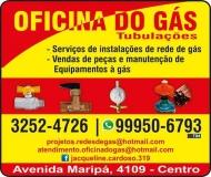 OFICINA DO GÁS INSTALAÇÃO / MANUTENÇÃO DE REDES DE GÁS