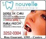 NOUVELLE ODONTOLOGIA Clínica Odontológica / Cirurgiã Dentista