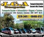 JGA TRANSPORTES UNIVERSITÁRIO E ESCOLAR