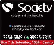 SOCIETY MODA MASCULINA E FEMININA LOJA