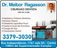 MEITOR RAGASSON Dr. Cirurgião Dentista / Ortodontia ODONTOLOGIA