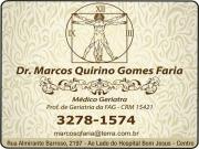 Cartão: CLÍNICA DE GERIATRIA MARCOS QUIRINO GOMES FARIA Dr. Geriatra