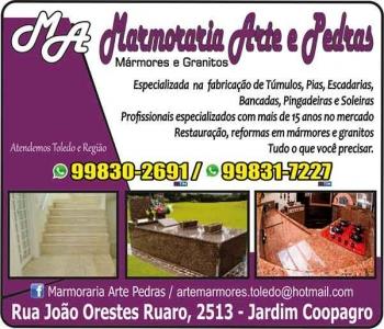 ARTE E PEDRAS MARMORARIA / MÁRMORES E GRANITOS