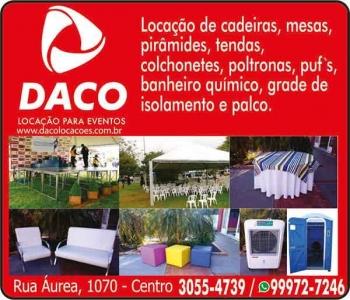 DACO LOCAÇÃO DE EQUIPAMENTOS PARA EVENTOS