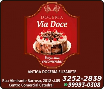 VIA DOCE DOCERIA E CONFEITARIA