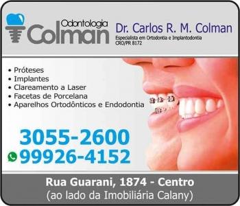 COLMAN ODONTOLOGIA CLÍNICA ODONTOLÓGICA e Cirurgião Dentista