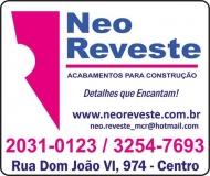 NEO REVESTE ACABAMENTOS<BR>MATERIAIS DE CONSTRUÇÃO