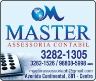 MASTER ASSESSORIA CONTÁBIL ESCRITÓRIO CONTÁBIL - CONTABILIDADE