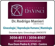 CLÍNICA DE GINECOLOGIA E MASTOLOGIA RODRIGO MANIERI Dr. Ginecologista