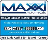 MAXXI AUTOMAÇÃO SISTEMAS INFORMÁTICA