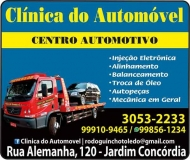 CLÍNICA DO AUTOMÓVEL MECÂNICA E CENTRO AUTOMOTIVO GUINCHO RODOGUINCHO