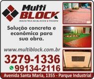 MULTI BLOCK  BLOCOS E PAVERS ARTEFATOS DE CIMENTO