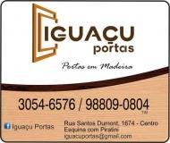 IGUAÇU PORTAS ABERTURAS EM MADEIRA MATERIAIS DE CONSTRUÇÃO