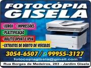Cartão: GISELA FOTOCÓPIAS IMPRESSÕES E XEROX